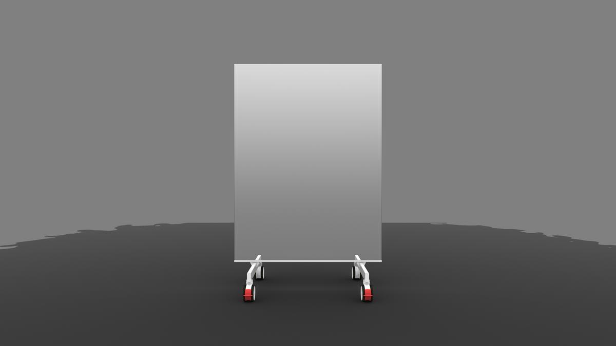 Radiator Met Spiegel : Mobile spiegel weiß 2 mtr foskmirrors.com