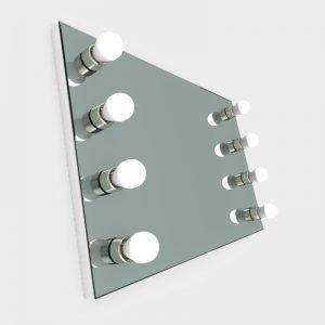 visagiespiegel wandmodel met verlichting - zijaanzicht 3d