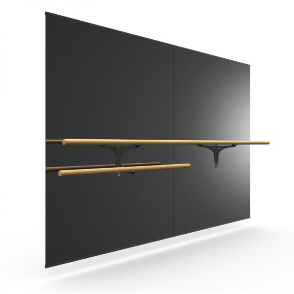 ballet spiegel wand met barre