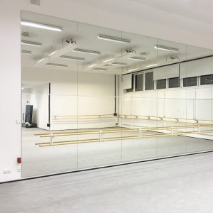 ballet spiegelwand voorbeeld