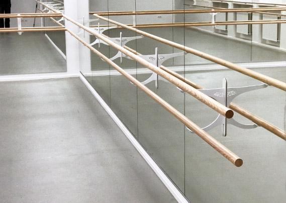 Professionele balletspiegels wand