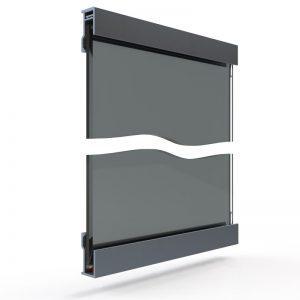 spiegelwand glas en profiel