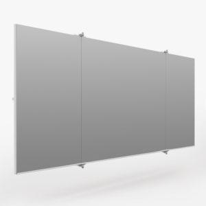 inklap spiegelwand voorkant 5 meter